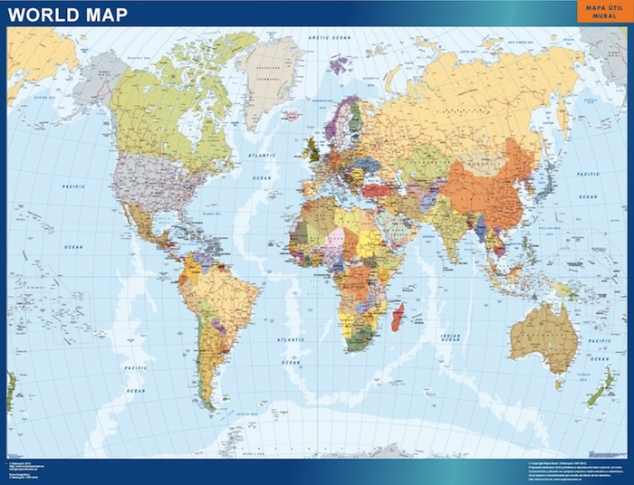 Our World Wall Maps Wall Maps Mapmakers offers poster laminated or magnet