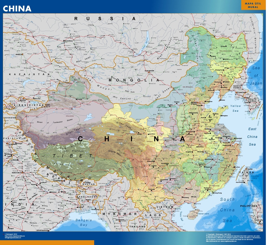Find And Enjoy Our China Wall Maps Thewallmaps Com
