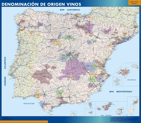 Spain Wines Wall Maps