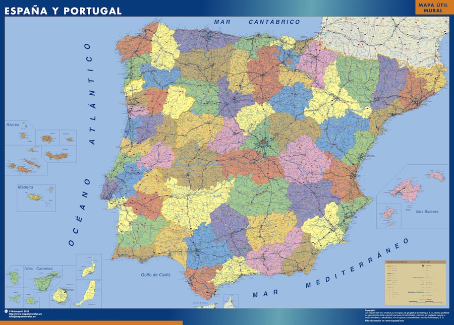 Our Provinces of Spain Maps Wall Maps Mapmakers offers poster