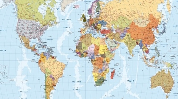 Wall maps of the world countries and continents laminated and laminated write on magnetic and framed magnets or pins options world gumiabroncs Choice Image