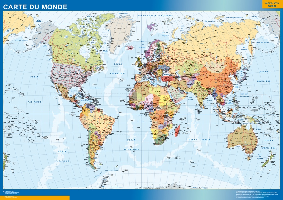 Carte Monde French