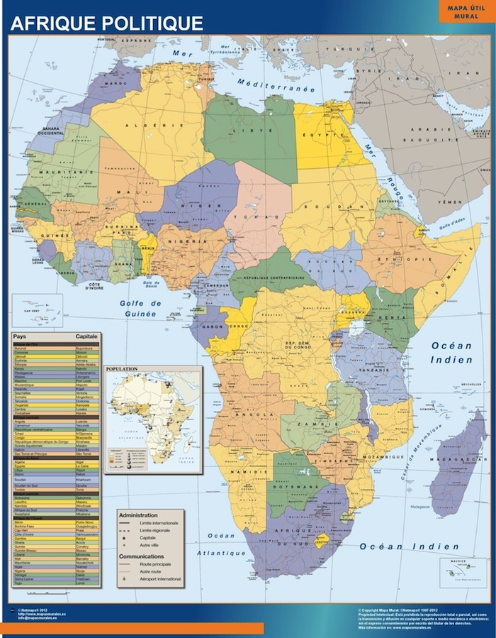 Africa wall maps