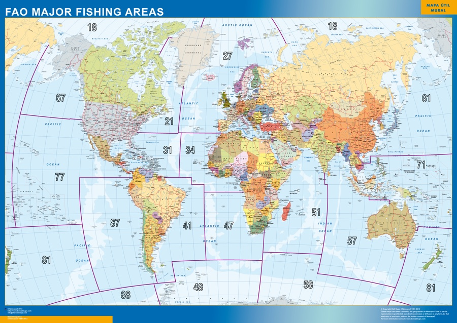 Fao fishing areas map