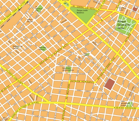 buenos aires wall map