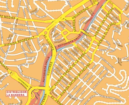 caracas wall map