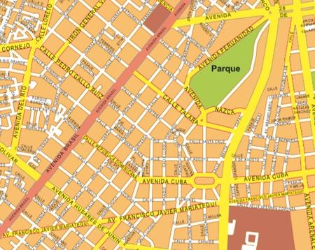 lima wall map