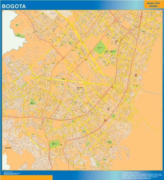 map bogota