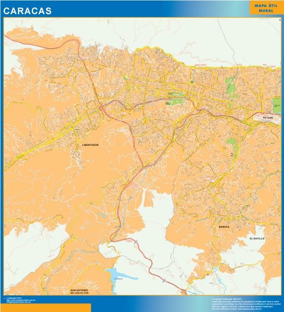 map caracas