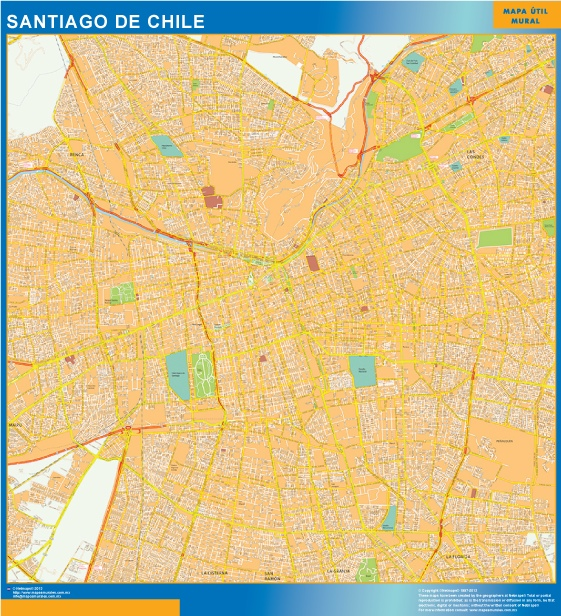 map santiago de chile