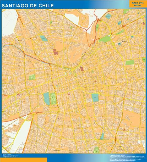 map santiago de chile