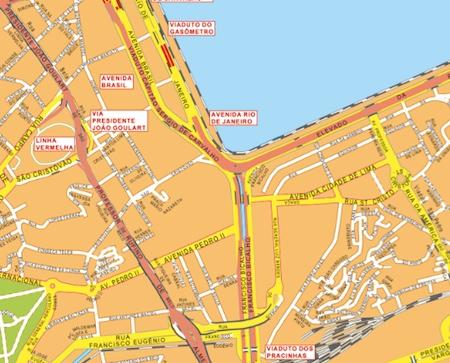 rio de janeiro wall map