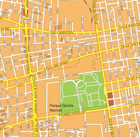 santiago de chile wall map