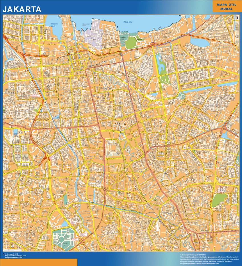 Find and enjoy our Jakarta Wall map | TheWallmaps.com