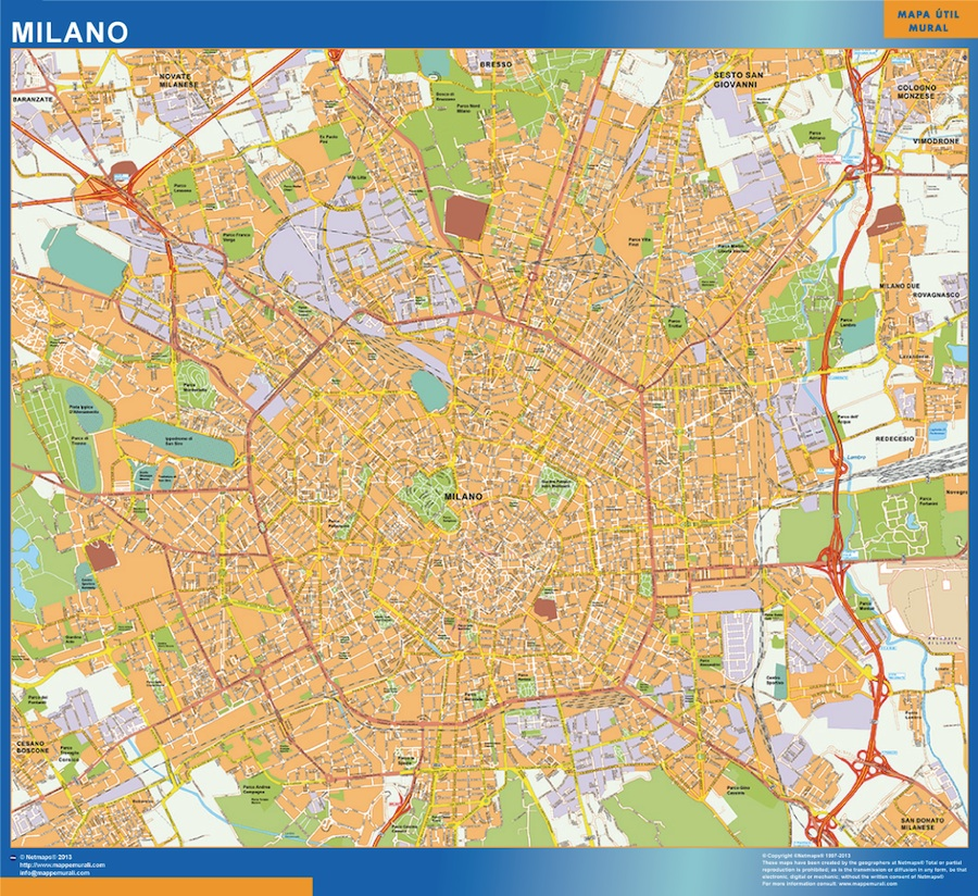 map milano