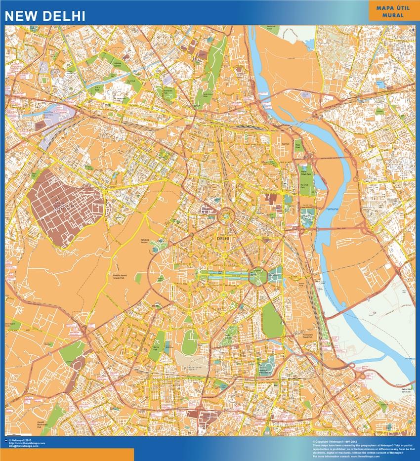 map new delhi