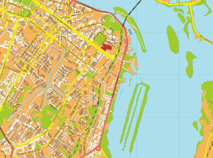 Dnipropetrovsk streetmap