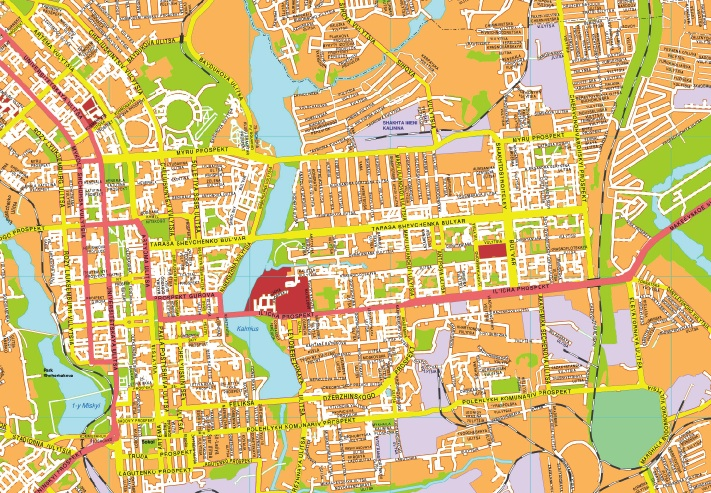 Donetsk streetmap