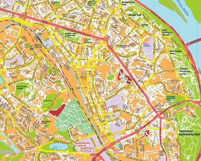 Kiev streetmap