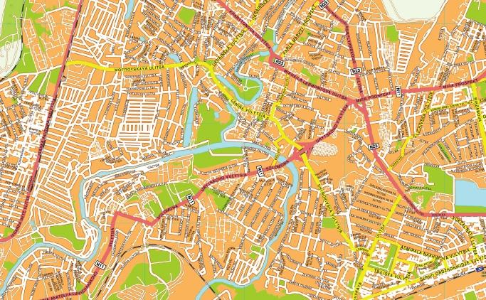 Krivoy rog streetmap