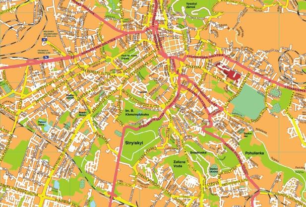 Leopoli streetmap