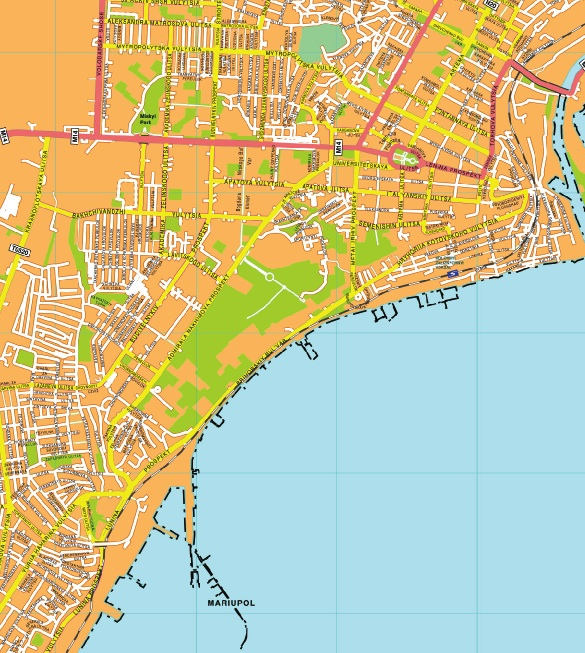 Mariupol streetmap