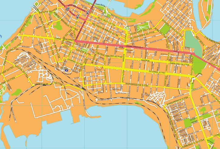 Mikolaiv streetmap