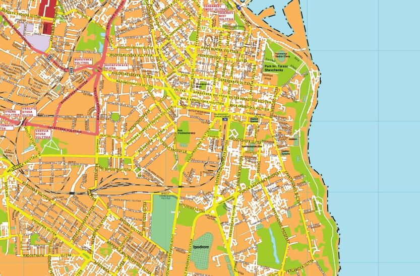 Odesa streetmap