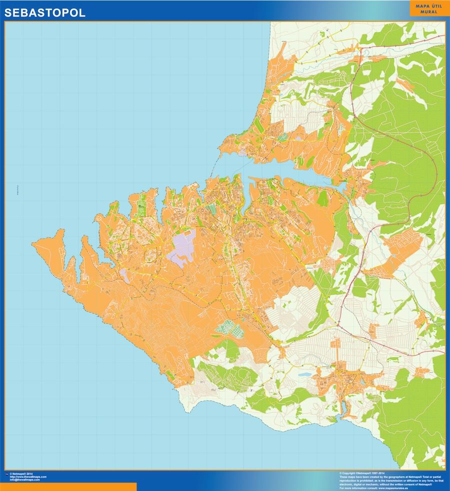 Sebastopol map