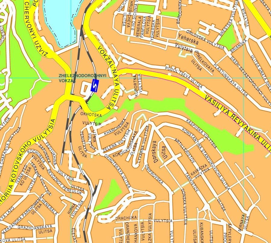 Sebastopol streetmap