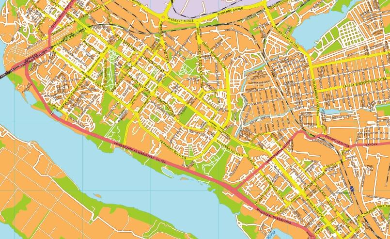 Zaporijia streetmap
