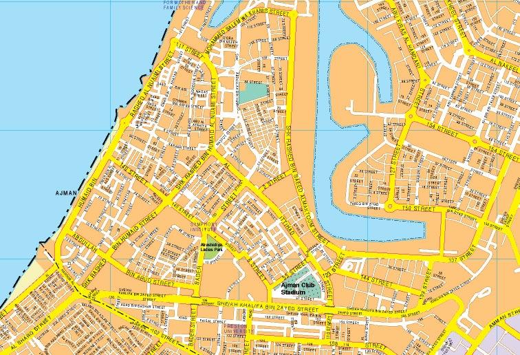 Ajman map