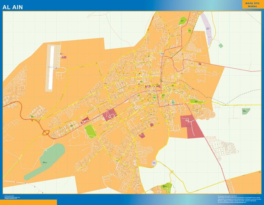 Al-Ain wall map