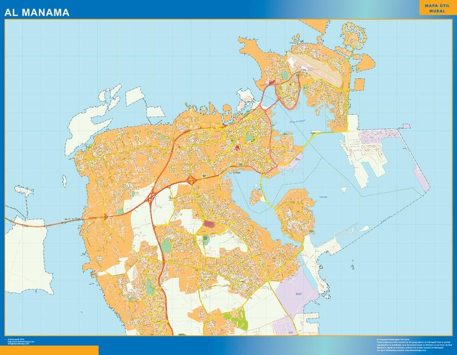 Al manama wall map