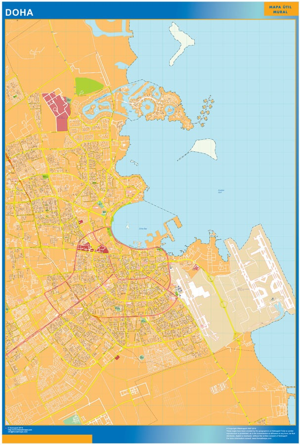Doha wall map
