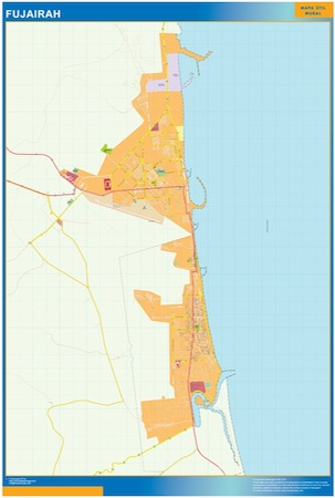 Fujairah city map