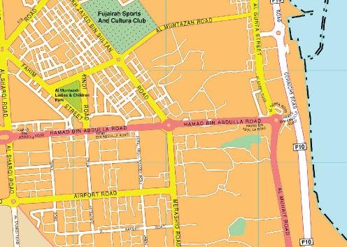 Fujairah map