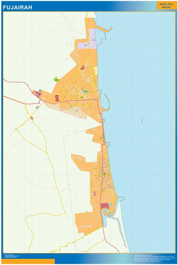 Fujairah wall map