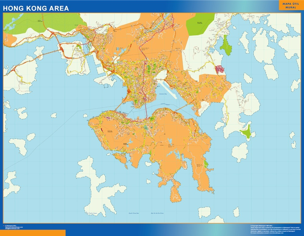 Hong kong wallmap