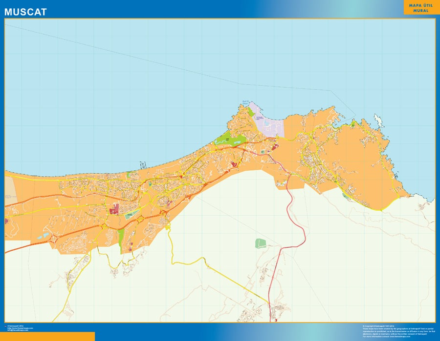 Muscat wall map
