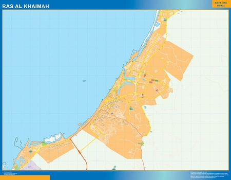 Ras al Khaimah city map