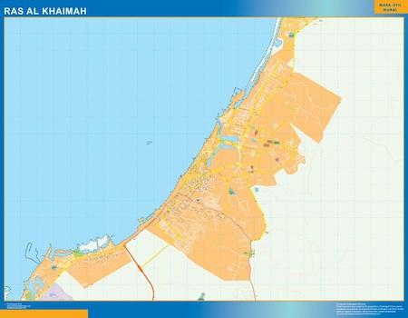 Ras al Khaimah city map