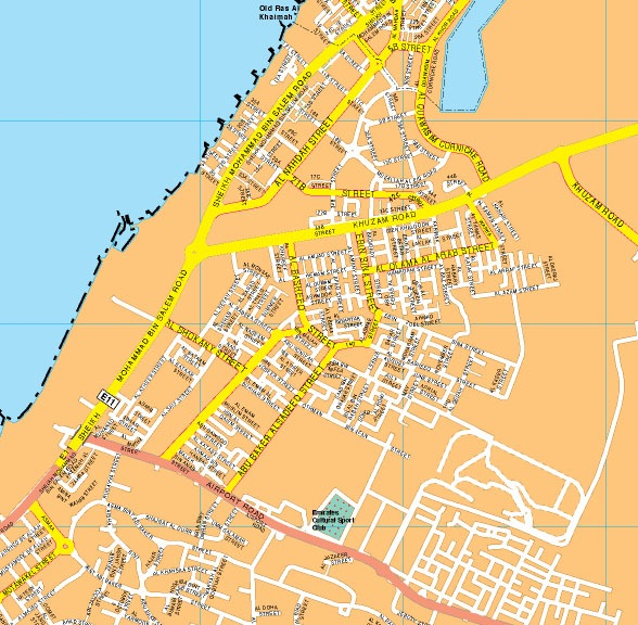 Ras al khaimah map