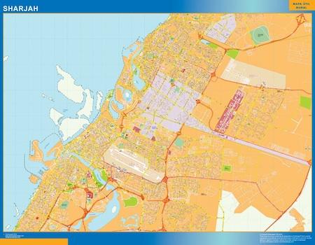 Sharjah city map