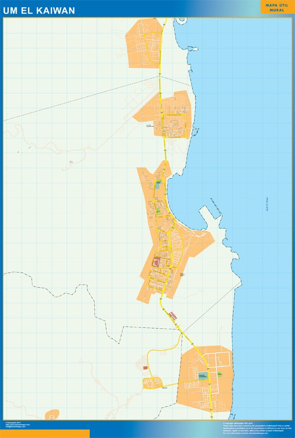 Um el kaiwan wall map