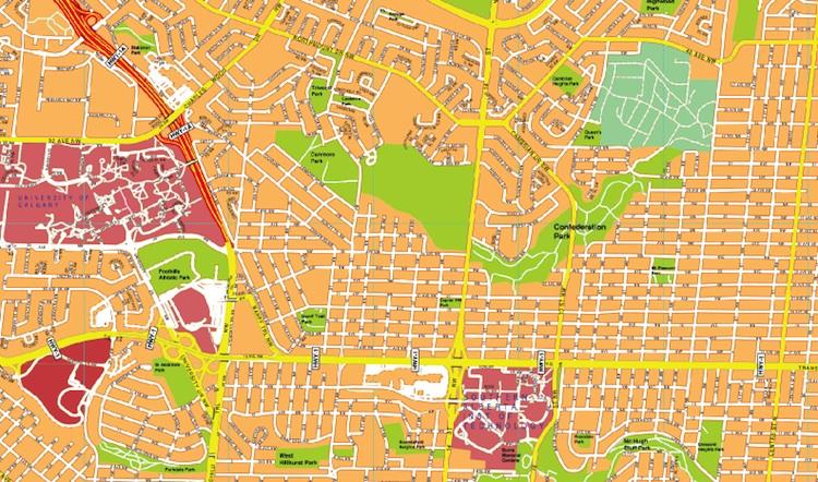 Calgary streetmap