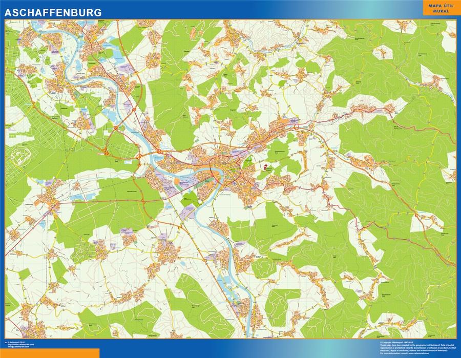 Aschaffenburg karte