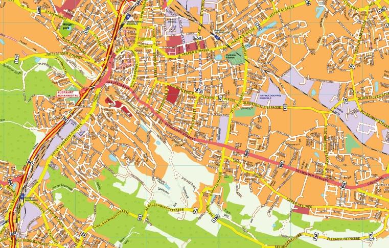 Bielefeld stadtplan