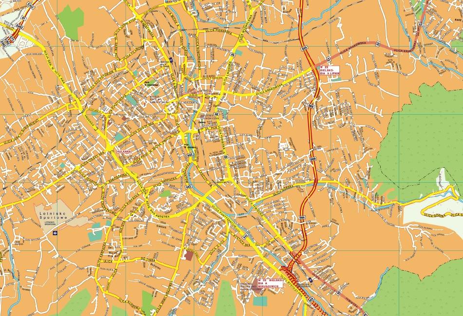 Bielsko Biala map