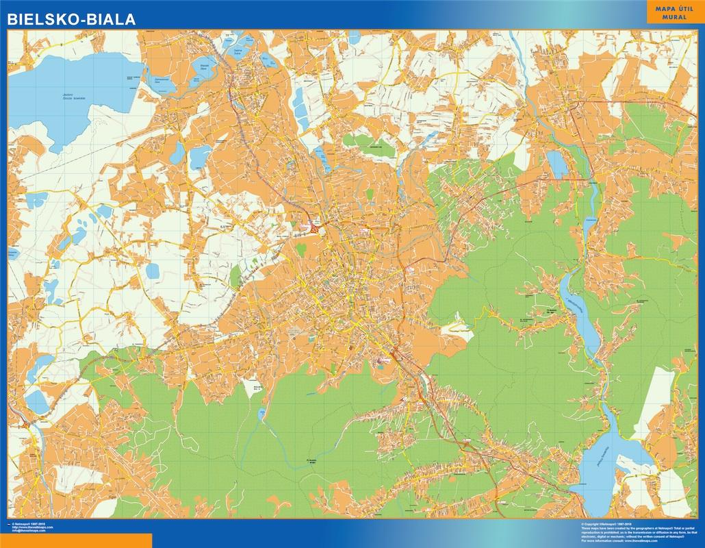 Bielsko Biala mapa
